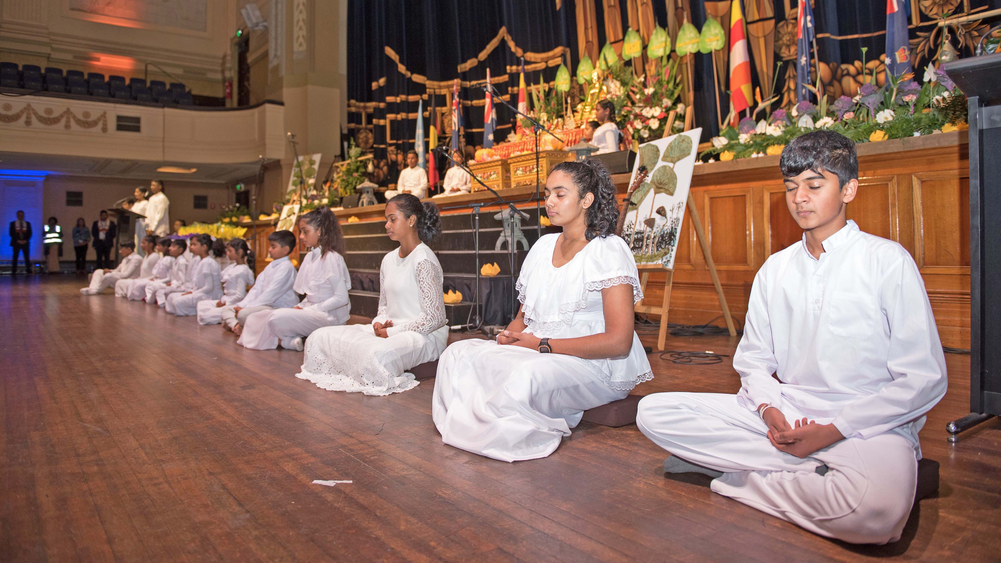 Sati Pasala Children at the UN Day of Vesak Celebrations (English)