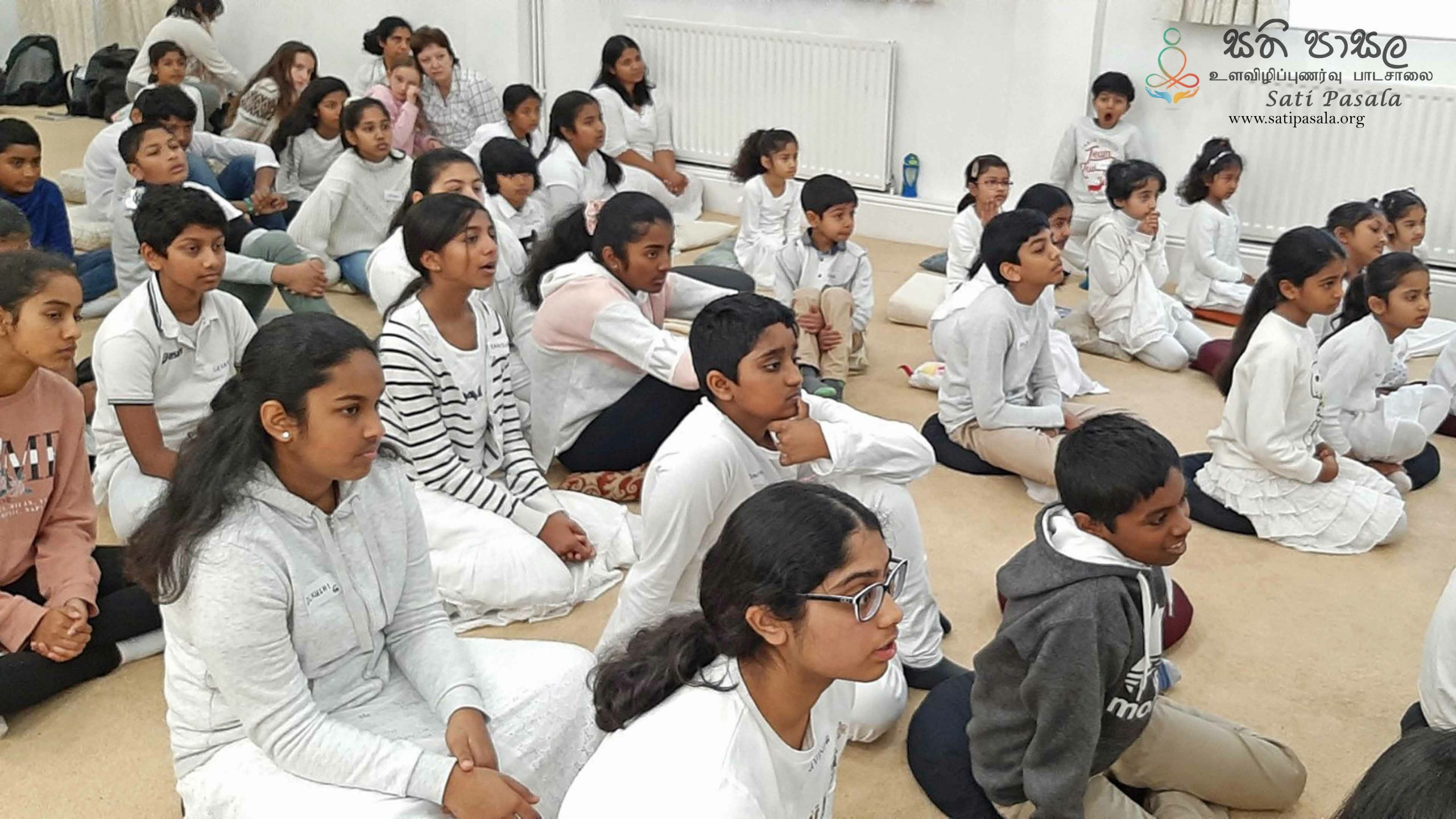 Sati Pasala Day Camp at Thames Buddhist Vihara, United Kingdom